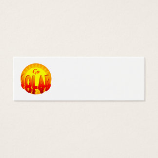 Go Solar Saying Business Card Template