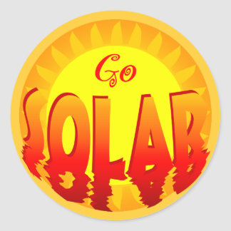 Go Solar Slogan Sticker
