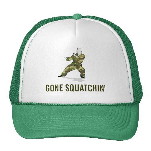 Go Squatchin' Bigfoot Hunter In Camo Fatigues Hat
