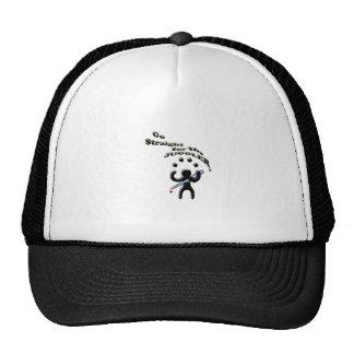 go straight for the juggler trucker hat