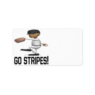 Go Stripes Label