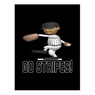 Go Stripes Postcard