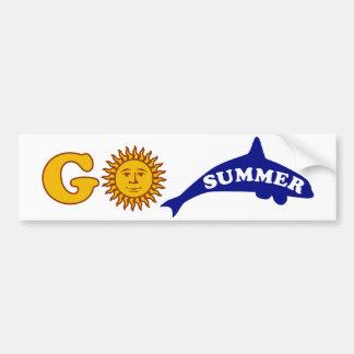 Go Summer Car Bumper Sticker