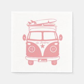 Go surfing paper napkin