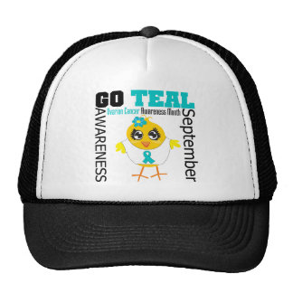 Go Teal For Ovarian Cancer Awareness Month Trucker Hat