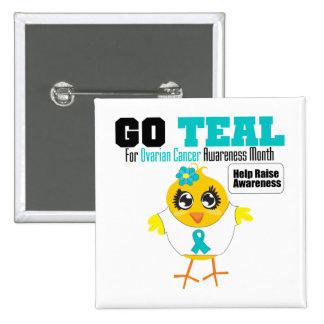 Go Teal For Ovarian Cancer Awareness Month v2 Pins