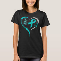 go teal ovarian cancer awareness heart T-Shirt