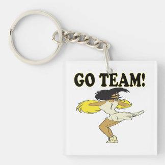 Go Team 2 Double-Sided Square Acrylic Keychain