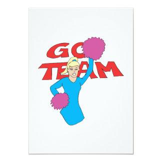 Go Team 3 5x7 Paper Invitation Card