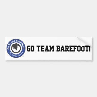 Go Team Barefoot! Bumper Sticker