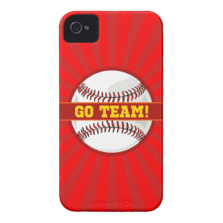 Go Team Baseball iPhone 4 Case-Mate Cases