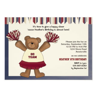 Go Team Bear Invitation