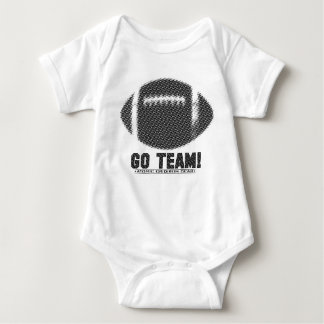 Go Team Black and Gold Baby Bodysuit