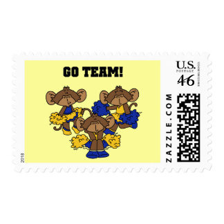 Go Team Blue and Gold T-shirts and Gifts Postage Stamps