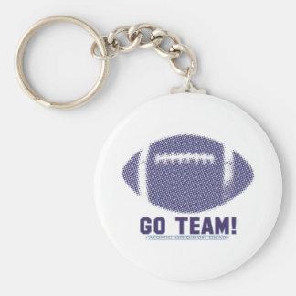 Go Team Blue and Orange Keychain