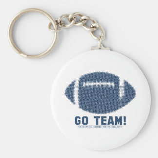 Go Team Blue and Silver Keychain