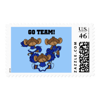 Go Team Blue and White T-shirts and Gifts Postage Stamp
