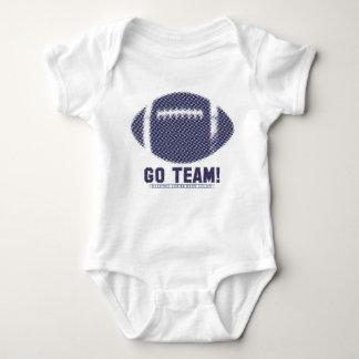 Go Team Blue Red Silver Baby Bodysuit