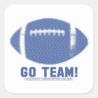 Go Team Blue Square Sticker