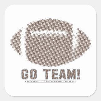 Go Team Brown Square Sticker
