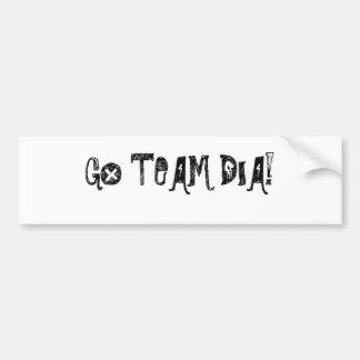 Go team/bumper sticker car bumper sticker