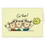 Go Team Cheerleaders T-shirts and Gifts Greeting Card