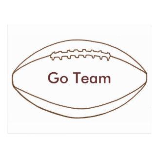 Go Team Custom Football Outline postcards