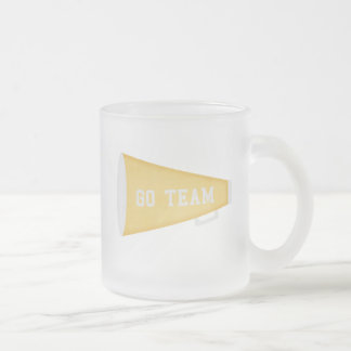 Go Team Frosted Glass Coffee Mug