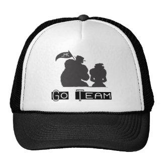 Go Team Fur Coat and Pennant Mesh Hat
