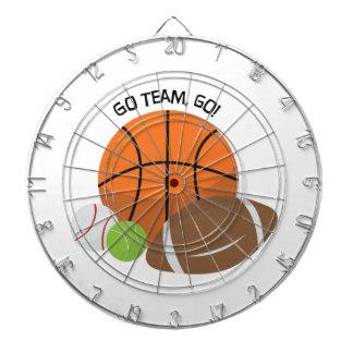 Go Team Go Dartboard With Darts