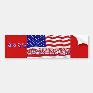 Go Team Go!,USA_ Car Bumper Sticker