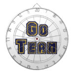Go Team Gold and Blue Dart Board