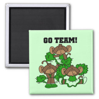 Go Team Green and White T-shirts and Gifts Magnet