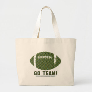 Go Team Green and Yellow Tote Bags
