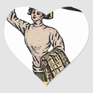 Go Team Heart Sticker