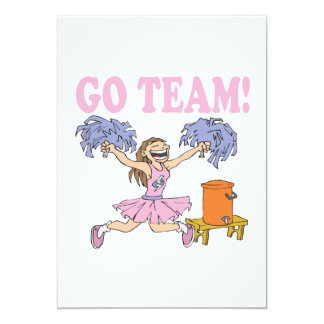 Go Team 5x7 Paper Invitation Card