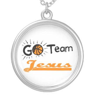 Go Team Jesus Christian Round Pendant Necklace