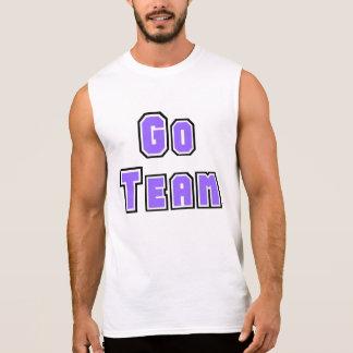 Go Team Light Purple Sleeveless Shirt