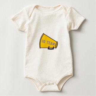 Go Team Megaphone Baby Bodysuit