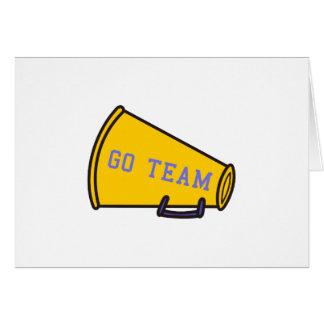 Go Team Megaphone Card