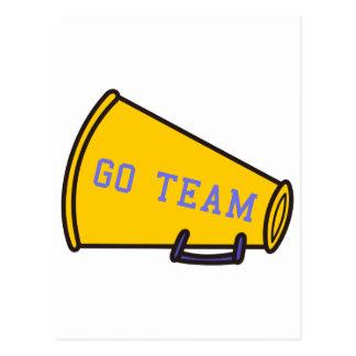 Go Team Megaphone Postcard
