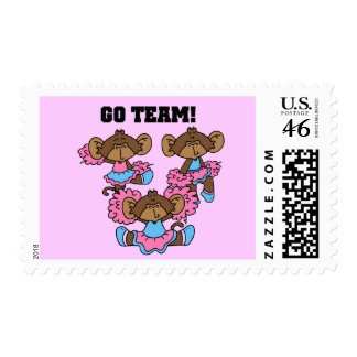 Go Team Pink and Blue Tshirts and Gifts Postage Stamps