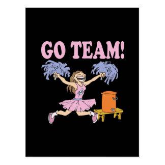 Go Team Postcard