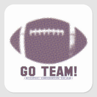 Go Team Purple and Yellow Square Sticker