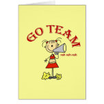 Go Team Rah Rah Rah T-shirts and Gifts Greeting Card
