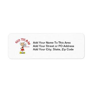 Go Team Rah Rah Rah T-shirts and Gifts Return Address Label
