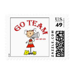 Go Team Rah Rah Rah T-shirts and Gifts Postage Stamps