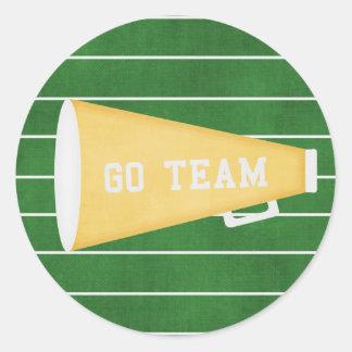 Go Team Round Sticker