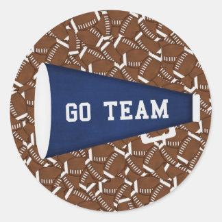Go Team Round Stickers