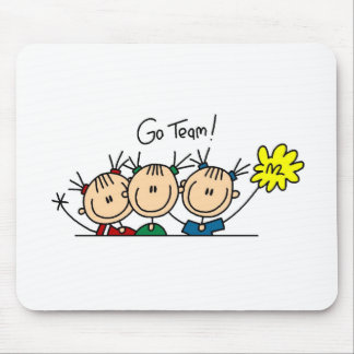 Go Team Three Cheerleaders Mousepad